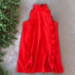 Ted Baker Torriya Red Ruffle Shift Tunic Dress